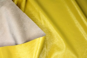 Glossy Reversible Stretchy Leatherette - Yellow