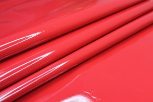 Glossy Red Stretchy PVC