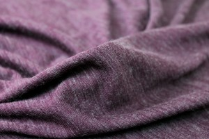 Soft Wool Mix Jersey - Plum