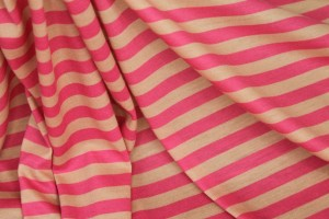 Stripe Print Jersey - Pink / Nude