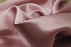 Tea Rose Pink Silk Satin - 112cm wide
