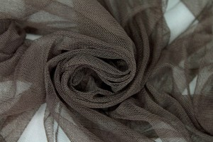 Soft Nylon Tulle - Chocolate - T8