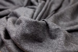 Soft Wool Mix Jersey - Charcoal