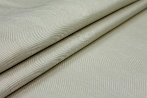 "Cream/Ecru Silk Linen ""Grosgrain"""
