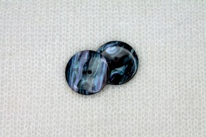 "Round Nylon ""Abalone Shell"" Button - Dark Blue"