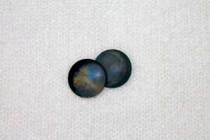 "Round ""Shell"" Resin Button - Dark Blue"