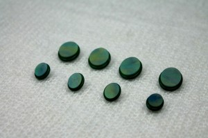 "Oval ""Shell"" Resin Inlay Shank Button - Green - Small"
