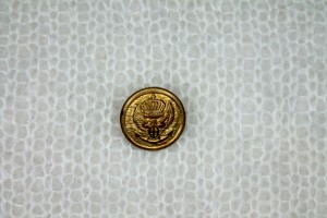 Small Gold Military Crest Button