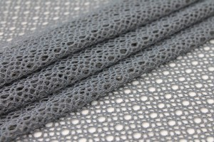 Corded Mesh Fabric - Dark Grey