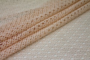 Corded Mesh Fabric - Pale Pink