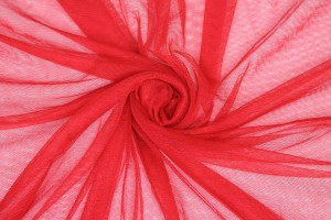 Soft Nylon Tulle - Red - T29