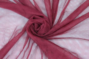 Soft Nylon Tulle - Burgundy - T36