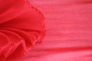 Pleated Red Organza
