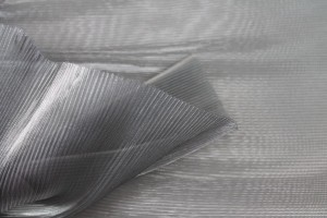 Pleated Silver Foil Organza