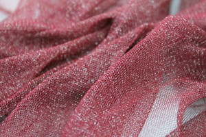 Sparkly Soft Tulle - Burgundy / Silver