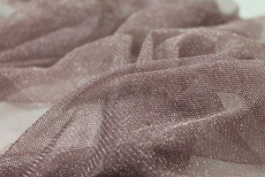 Sparkly Soft Tulle - Mauve / Silver
