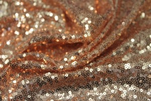 Small Rose Gold Sequin On Tulle