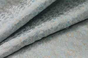 Banaras Brocade - Pale Duck Egg Blue