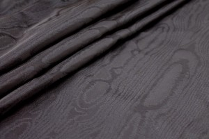 Woven Moiré Brocade Fabric - Black