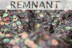 REMNANT - Mauve Iridescent Sequin on Silk Chiffon -  1.6m piece
