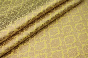 Yellow and Gold Ornamental Brocade
