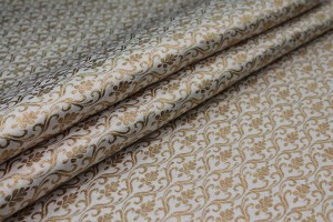 Ivory and Gold Ornamental Brocade