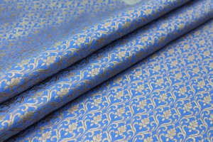Royal Blue and Gold Ornamental Brocade