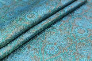 Banaras Brocade - Turquoise, Green and Gold