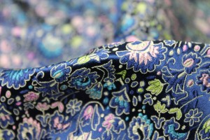 Chinese Brocade - Blue / Multi Floral