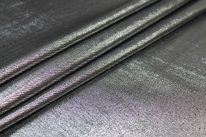 Silk Lurex Twill - Black / Silver