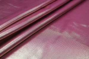 Silk Lurex Twill - Pink / Gold