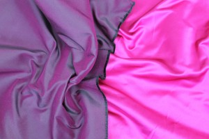 Two Tone Silk Duchesse Satin - Magenta/Black