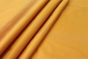 Silk Dupion - Yellow shot Tan
