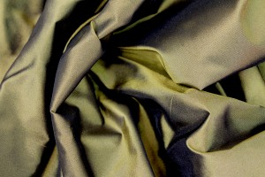Silk Taffeta - Dark Gold shot Black