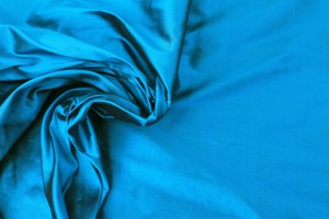 Silk Dupion - Deep Turquoise shot Black