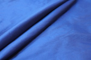 Silk Dupion - Royal Blue shot Black