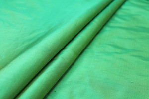 Silk Dupion - Emerald shot Lime