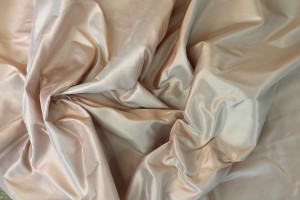 Silk Taffeta - 3-Tone - Peach Pink, Pale Blue and Ivory