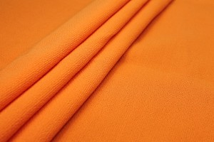 Double Wool Crepe - Neon Orange