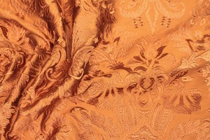 Heavy Jacquard Style Embroidery - Orange