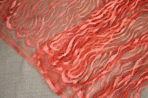 Orange French Squiggle Lace