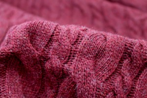 Wool Cable Knit - Wine