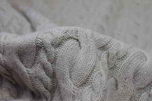 Wool Cable Knit - Clay Grey