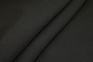 Double Wool Crepe - Black