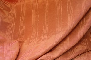 Cotton Viscose Grosgrain - Orange Moiré