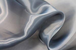 Heavy Weight Organza - Smokey Blue
