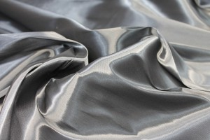 Heavy Weight Stretch Satin Organza - Charcoal
