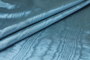 Cotton Viscose Grosgrain - Prussian Blue Moiré