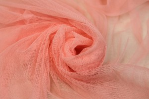 Soft Nylon Tulle - Coral - T60