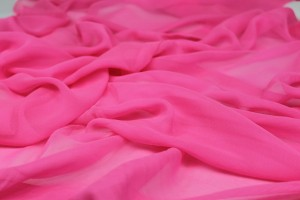 Neon Pink Silk Georgette - 112cm wide
